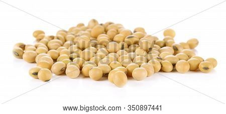 Soybeans, Or Soya Beans, Isolated On A White Background