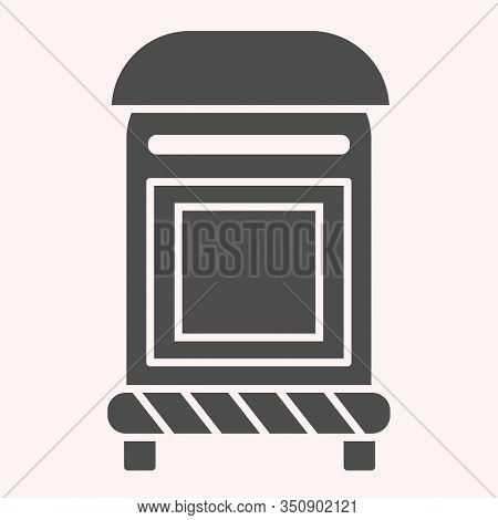 Mailbox Line Glyph Icon. Mail Postage Letterbox. Postal Service Vector Design Concept, Solid Style P