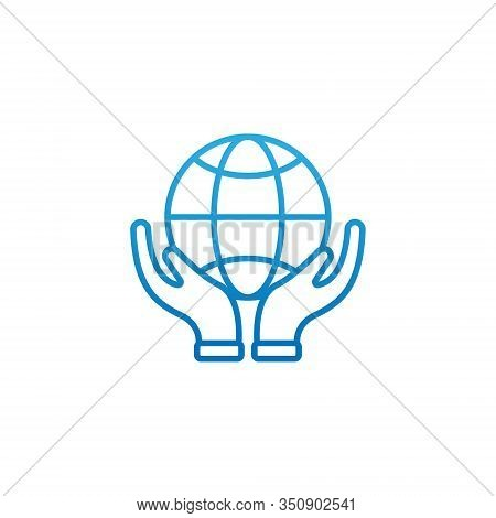 Globe. Globe icon. Globe vector. Globe icon vector. Globe logo. Globe symbol. Globe web icon. World vector. Globe on hand icon isolated on white background. Globe vector icon modern and simple flat symbol for website, mobile, logo, app, UI.