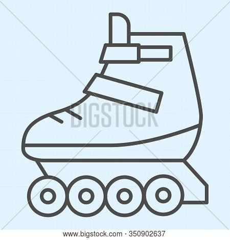 Rollers Thin Line Icon. Skates Roller Shoes. Sport Vector Design Concept, Outline Style Pictogram On