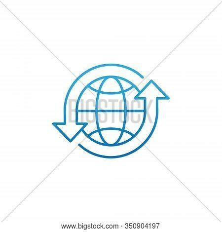 Globe. Globe icon. Globe vector. Globe icon vector. Globe logo. Globe symbol. Globe web icon. World vector. Globe icon isolated on white background. Globe vector icon modern and simple flat symbol for website, mobile, logo, app, UI.