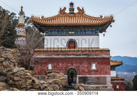 Building Of Four Great Regions Temple Located On Longevity Hill In Summer Palace In Beijing, Capital