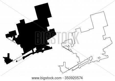 Midland City, Texas (united States Cities, United States Of America, Usa City) Map Vector Illustrati