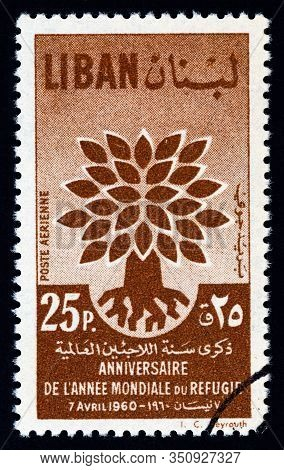 Lebanon - Circa 1960: A Stamp Printed In Lebanon From The