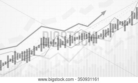 Business Data Analytics. Financial Graph Chart. Graph Chart Of Stock Market Investment Trading. Abst