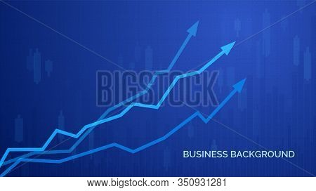 Financial Graph Chart. Business Infographics Background. Graph Chart Of Stock Market Investment Trad