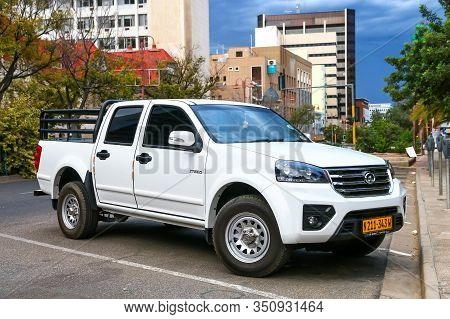 Windhoek, Namibia - February 11, 2020: Chinese Pickup Truck Great Wall Steed In The City Street.