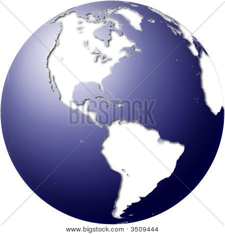Globe With Americas View