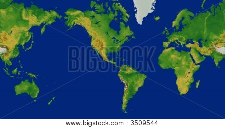 World Map Mercator Projection