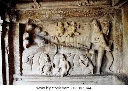 Anantasayana Panel,  Mamallapuram ,india