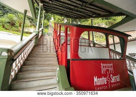 Funicular System Of Mont Serrat In Santos, Brazil