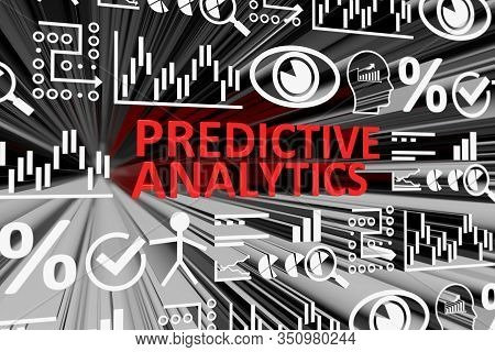 Predictive Analytics Concept Blurred Background 3d Render Illustration