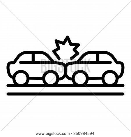 Windscreen Car Accident Icon. Outline Windscreen Car Accident Vector Icon For Web Design Isolated On