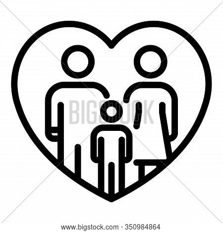Foster Family Protection Icon. Outline Foster Family Protection Vector Icon For Web Design Isolated