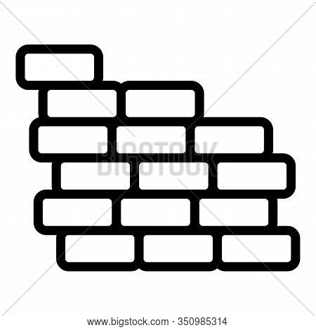 Reconstruction Brick Wall Icon. Outline Reconstruction Brick Wall Vector Icon For Web Design Isolate