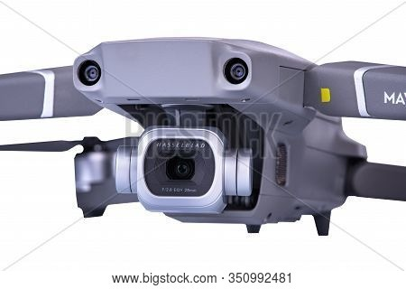 Varna, Bulgaria - Feb 16, 2020: Dji Mavic 2 Pro One Of The Most Portable Drones In The Market, With
