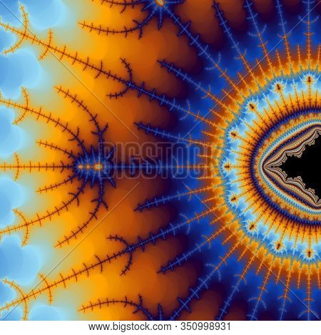 Abstract Surreal Background / Fractal Surreal Sun Flower