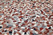 Traditional Italian terrazzoo floor made from marble pieces poster