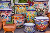 Mexican Pots and Decorations Old San Diego Town California poster