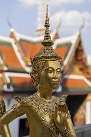 Kinnorn Statue  At Wat Phrasrirattana Sasadaram (wat Phra Kaew)  Bangkok ,thailand