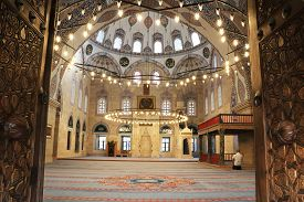 09/10/2019 Amasya: Islamic Architecture Of  Ottoman Sultan Bayezid Ii Mosque In Amasya, Turkey