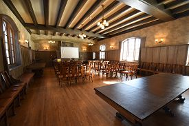Chicago, Il February 14, 2020, Jane Addams Hull House And Museum Dining Hall Interior At The Univers