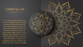 Circle Pattern Petal Flower Of Mandala With Vintage Design,vector Floral Mandala Pattern Unique Desi
