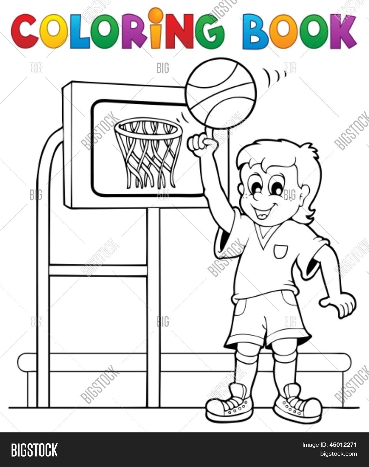Coloring Book Sport Gym Theme 3 - Vector & Photo | Bigstock