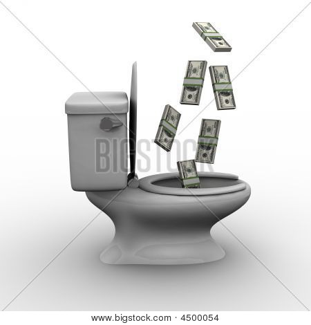 Throwing Money Down The Toilet
