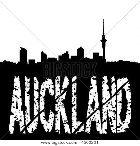Grunge Auckland With Skyline