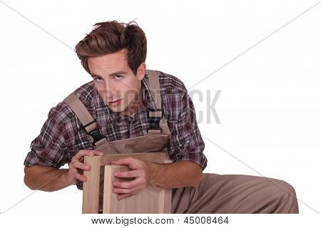 portrait of young cabinetmaker