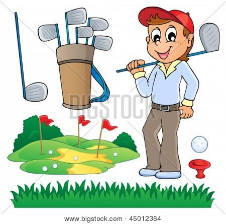 Image with golf theme 6 - eps10 vector illustration.