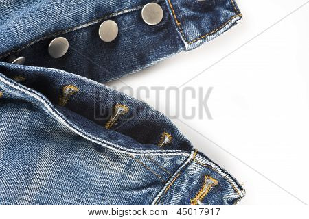 Fly Of The Jeans With Button Closure