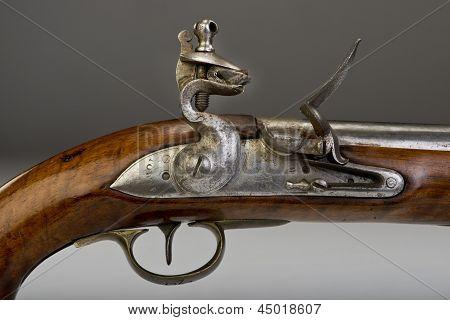 18th Century Flintlock Pistol.