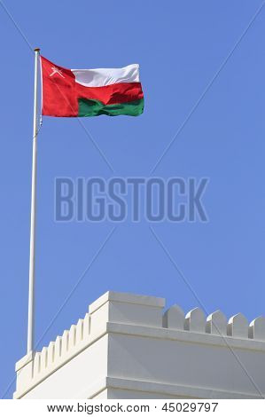 Oman Flag And Battlements