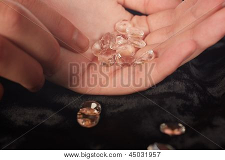 Diamonds In Hand