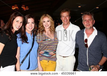 LOS ANGELES - APR 15:  Ashley jones, Jack Wagner, with Bold and Beautiful Staff at the Jack Wagner Celebrity Golf Tournament  at the Lakeside Golf Club on April 15, 2013 in Toluca Lake, CA