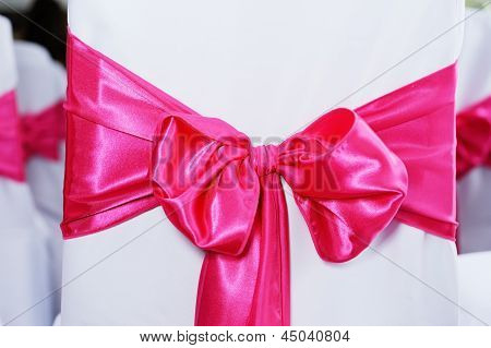 Pink Bow On Chair