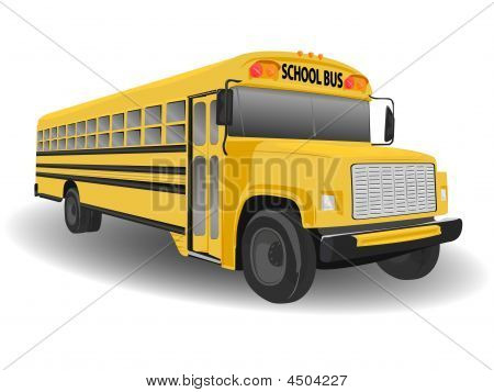 Traditional American School Bus