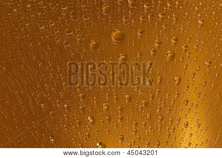 Gold water drops