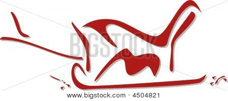 Stylized Wooden Sleigh