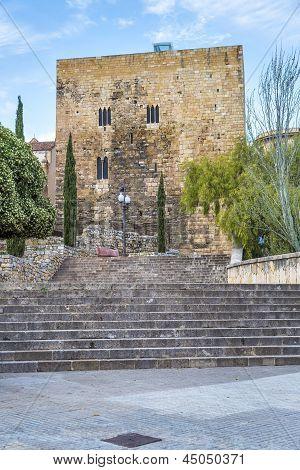 A View Of Passeig De Sant Antoni And Torre De Pilats, In Tarragona, Spain