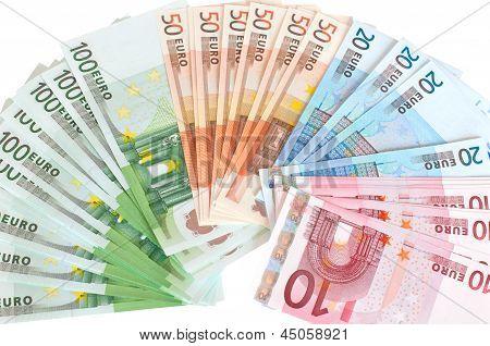Cash euros