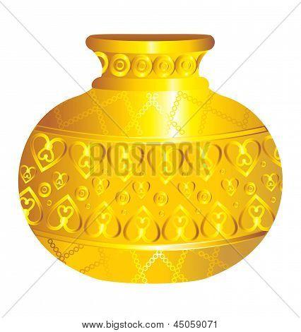Abstract Golden Water Vases