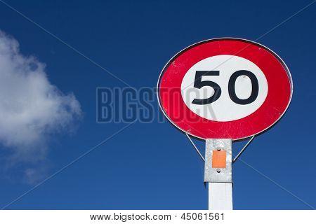 Speed sign 50