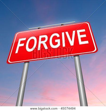 Forgive Concept.