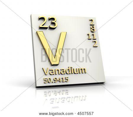 Vanadio la tabla de forma periódica de los elementos