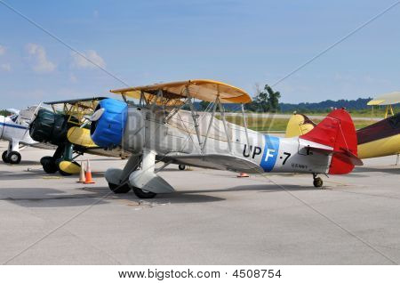 Vintage Aircraft On The Ground