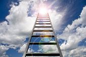 Ladder into sky poster