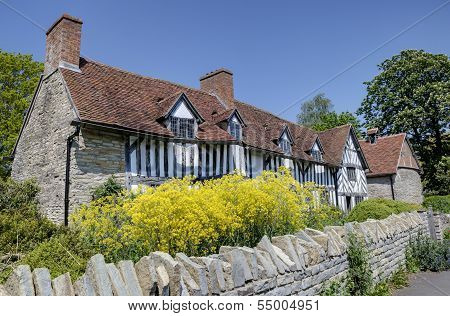 Mary Arden's House (William Shakespeare's Mother), Wilmcote, Warwickshire, England. poster